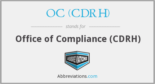 What does OC (CDRH) stand for?